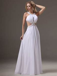 Vestidos De Noche Largos Color Blanco