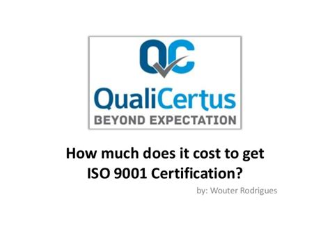 how much does it cost to get iso 9001 certification