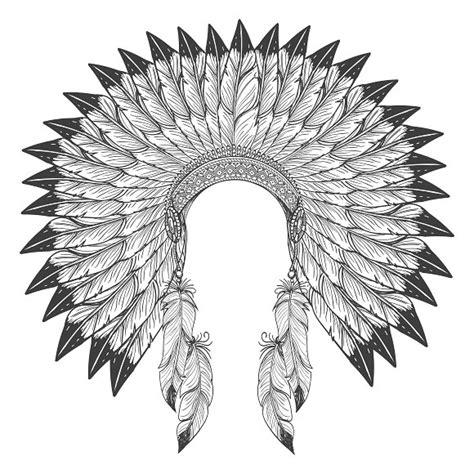 Indian Headdress Template by American Indian Headdress Graphics Creative Market