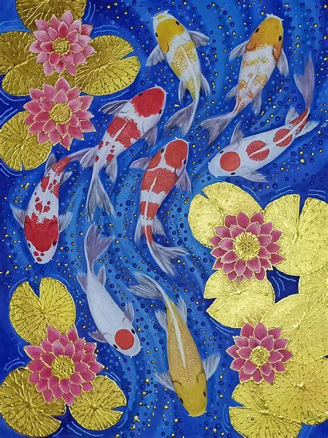 Koi Carp Artwork - Koi Painting For Sale | Royal Thai Art