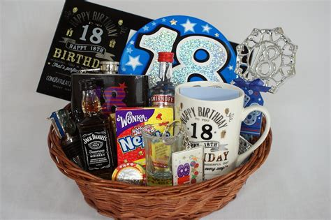 Personalised 18th Birthday Gift Basket For Boys Birthday