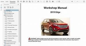 2015 Ford Edge Repair Manual