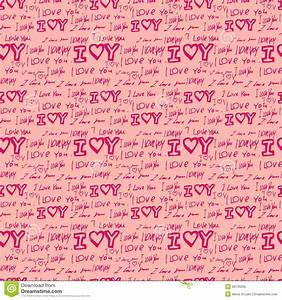 Words I Love You On Pink Background Royalty Free Stock ...