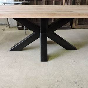 Pied De Table Metal Carré : les tables ~ Teatrodelosmanantiales.com Idées de Décoration