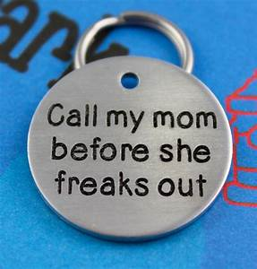 Engraved Dog Name Tag Customized Pet Id Tag Call My Mom