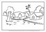 Nature Drawing Draw Step Scenes Places Learn Architecture Tutorials sketch template