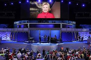Clinton wins historic nomination, says glass ceiling ...