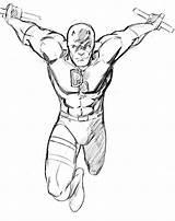 Daredevil Sketches Sketch Coloring Template sketch template