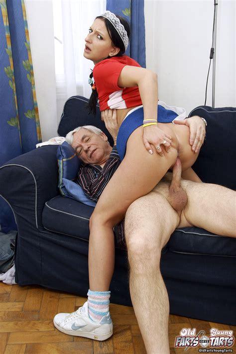 Horny Old Man Seduces His Teen Maid Into Sexual Adventure