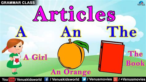 Grammar Class ~ Articles (Examples) - YouTube
