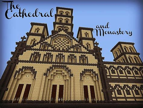 romanesque cathedral  monastery minecraft project
