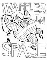 Waffles Coloring Space Comment Leave sketch template