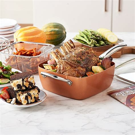 copper chef  piece set    tv gifts