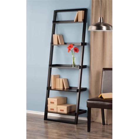 leaning wall shelf leaning wall 5 shelf bookcase black walmart