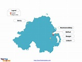 Free Northern Ireland Editable Map - Free PowerPoint Templates