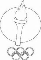Olympic Torch Coloring Printable Games sketch template