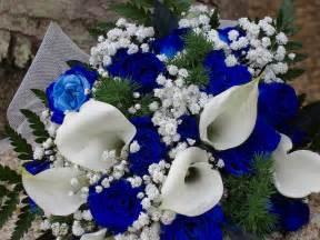 blue wedding flowers blue and white wedding flowers ipunya