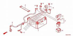 Wire Harness  Battery For Honda Vfr 1200 Dct White 2015