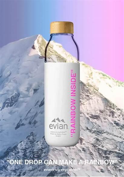 Evian Bottle Water Virgil Abloh Soma Refillable