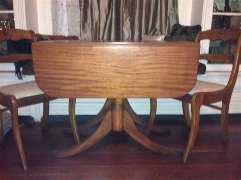 vintage dining table antique wood drop leaf dining table w 4 back chairs 6860