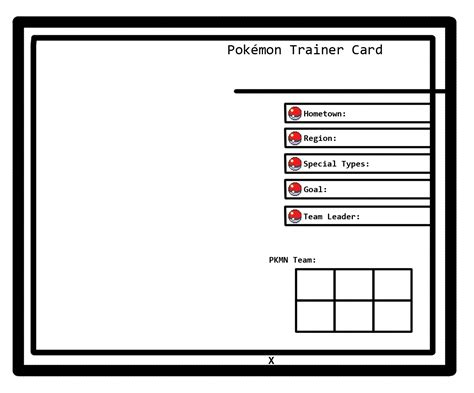Trainer Card Template 28 Images How To Make A Trainer