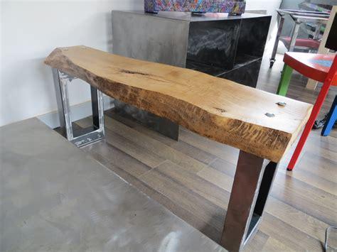 banc de cuisine en bois banc bois brut courbé artacier
