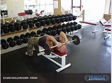 EZ Bar Skullcrusher Video Exercise Guide & Tips Muscle