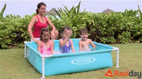 mini piscine pour enfant intex mini frame pool