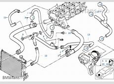 Cooling System Water Hoses BMW 3' E46 320d M47 Europe