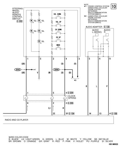 lancer stereo harness diagram lancer free engine image