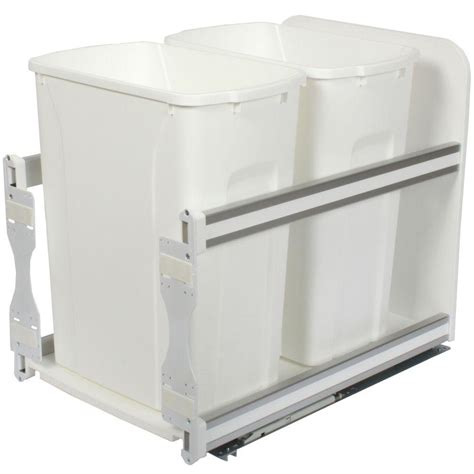 double trash can cabinet knape vogt 18 in h x 15 in w x 22 in d plastic in