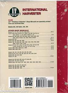 International Harvester 234 234 Hydro 244 254 Tractor Manual   Ih