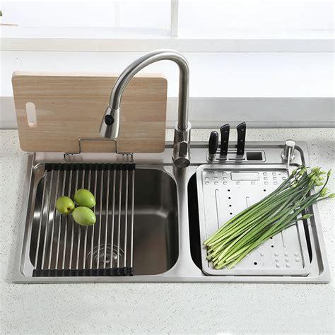 bowl drainer kitchen sink modern simple 304 stainless steel sink bowl kitchen 9610