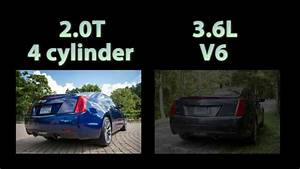 2015 Cadillac ATS Coupe Exhaust 20T Vs 36L V6 YouTube