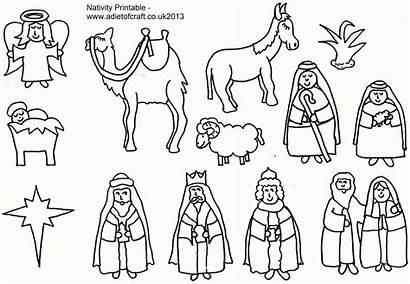 Coloring Nativity Printable Popular