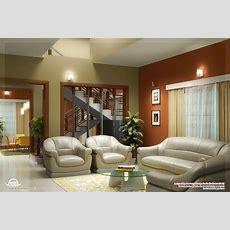 Beautiful Living Room Rendering  Kerala Home Design And