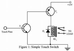 simple touch switch using two transistor best With touch switch ii