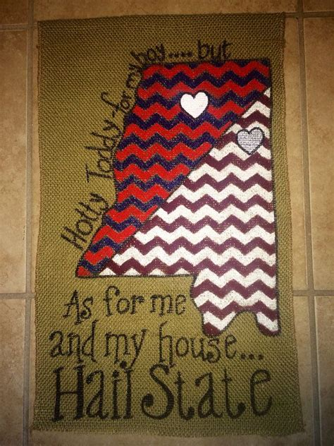 custom house divided burlap garden flag ole miss msu on