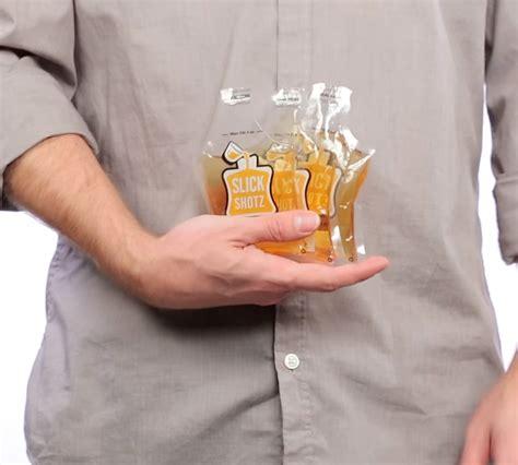 slick shotz sealable plastic flasks  easy alcohol