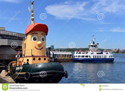 Tugboat Tv Show by Theodore Tugboat And Dartmouth Ferry Editorial Stock Image
