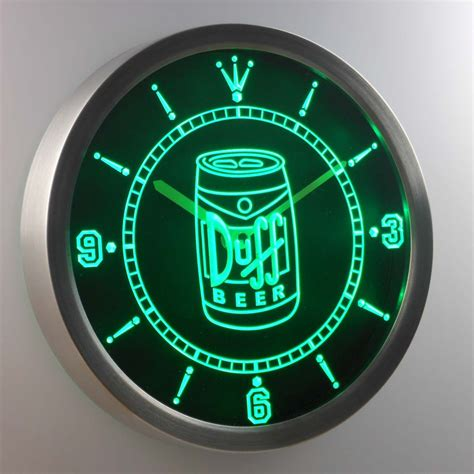 duff can led neon wall clock safespecial