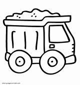 Coloring Dump Truck Boys Printable Trucks Cars sketch template