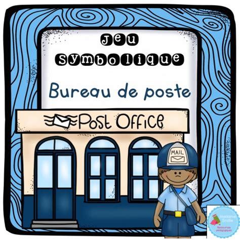 bureau de post au bureau de poste jeu symbolique