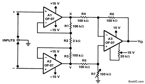 High Input Impedance Differential Amplifier