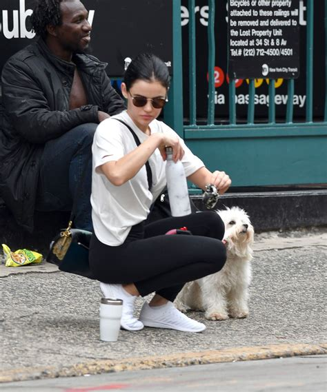Lucy Hale Out with Her Dog in New York 30 Sep-2019
