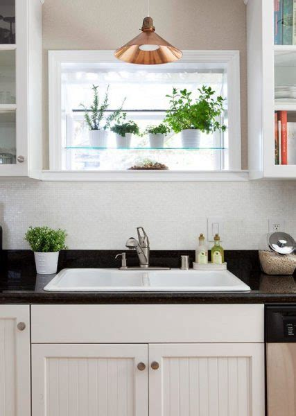 stylish treatments   kitchen sink window
