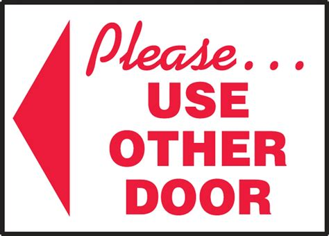 use other door sign safety signs safety tags and safety labels by accuform signs