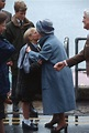 Peter and Zara Phillips with Queen Mother | Royal family ...