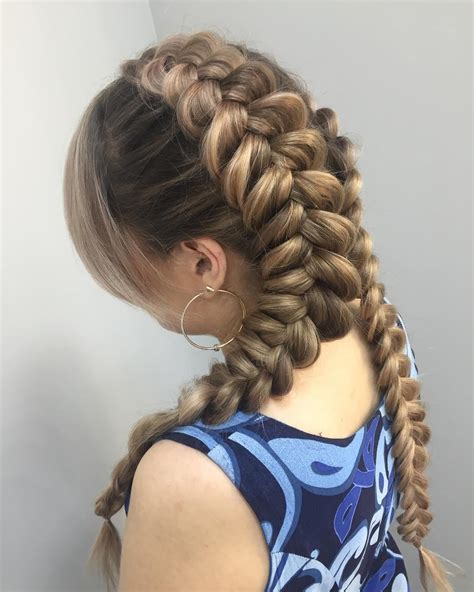 braided pigtails hairstyle dutch braid pigtail hairstyle for women hairstylo