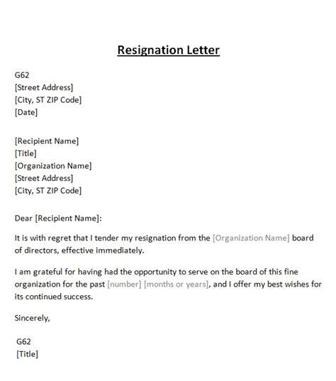 board resignation letter resignation letter from board template sle